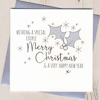 Glittery Special Couple Christmas Card