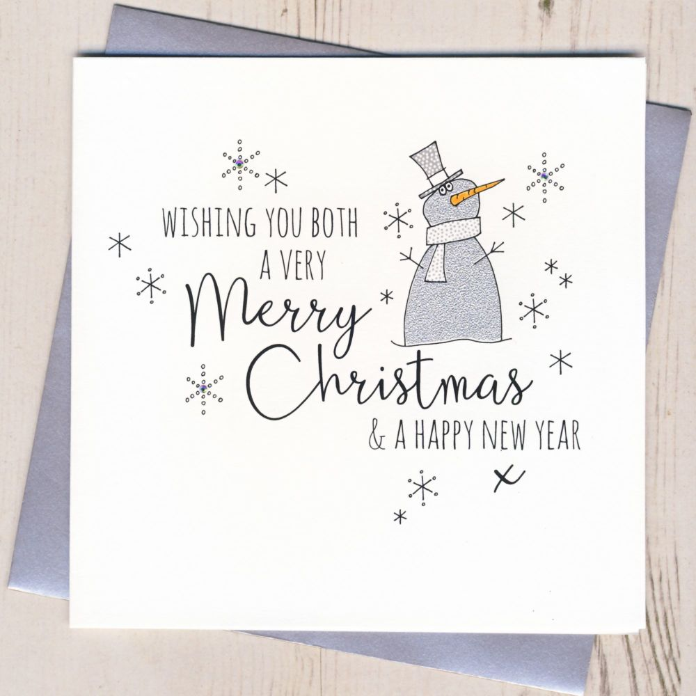 Glittery To Both of You Christmas Card
