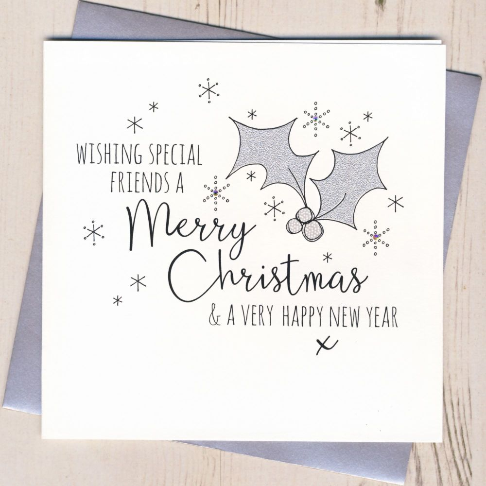 Glittery Friends Christmas Card