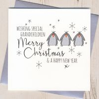 Glittery Grandchildren Christmas Card