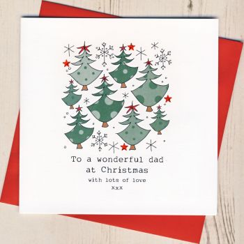 To A Wonderful Dad Christmas Card