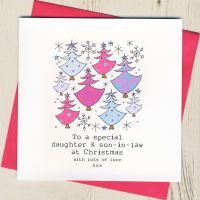To A Special Daughter & Son-in-Law or Partner Christmas Card