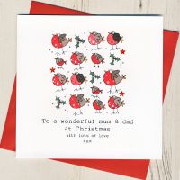 To A Wonderful Mum & Dad Christmas Card