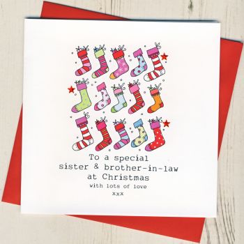 To A Special Sister & Brother-in-Law or Partner Christmas Card