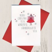<!-- 003-->To A Wonderful Granddaughter Christmas Card