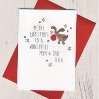 To a Wonderful Mum & Dad Christmas Card