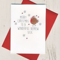 To a Wonderful Nephew Christmas Card