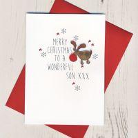 <!-- 005 -->To a Wonderful Son Christmas Card