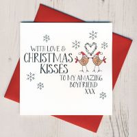 <!-- 002 -->Wobbly Eyes Boyfriend Christmas Card