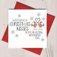<!-- 002 -->Wobbly Eyes Boyfriend Christmas Card