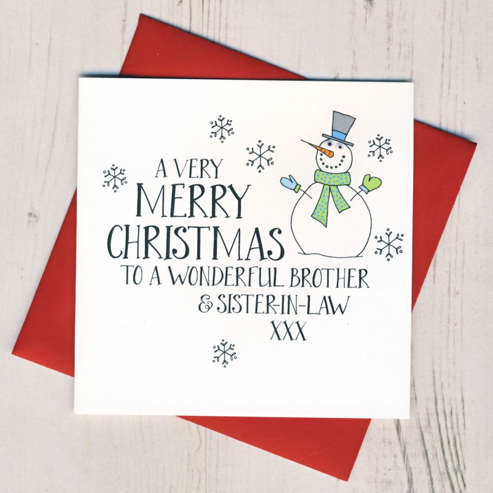 Brother /& Sister in Law Partner Christmas Card