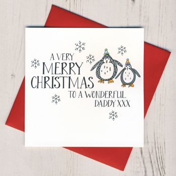 Wobbly Eyes Daddy Christmas Card