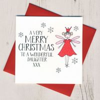 <!-- 007 -->Wobbly Eyes Daughter Christmas Card