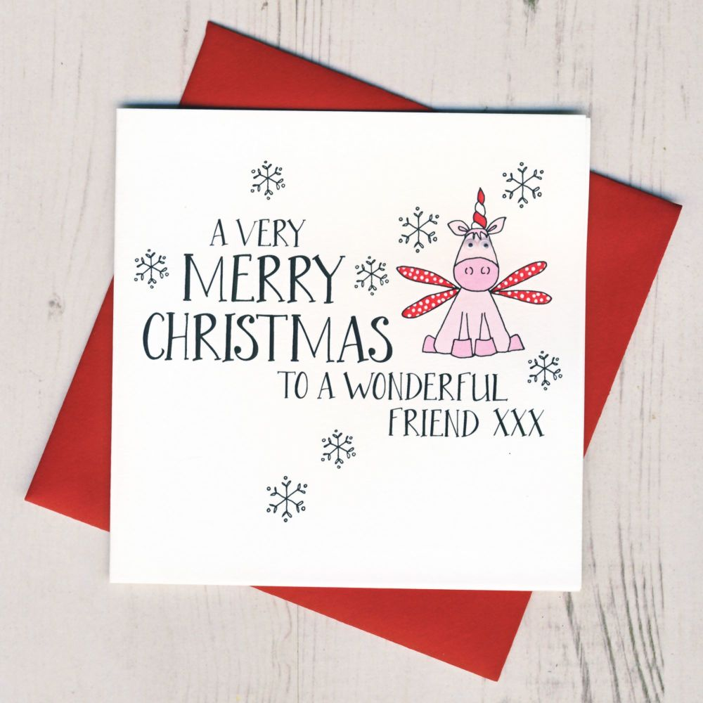 Wobbly Eyes Friend Christmas Card