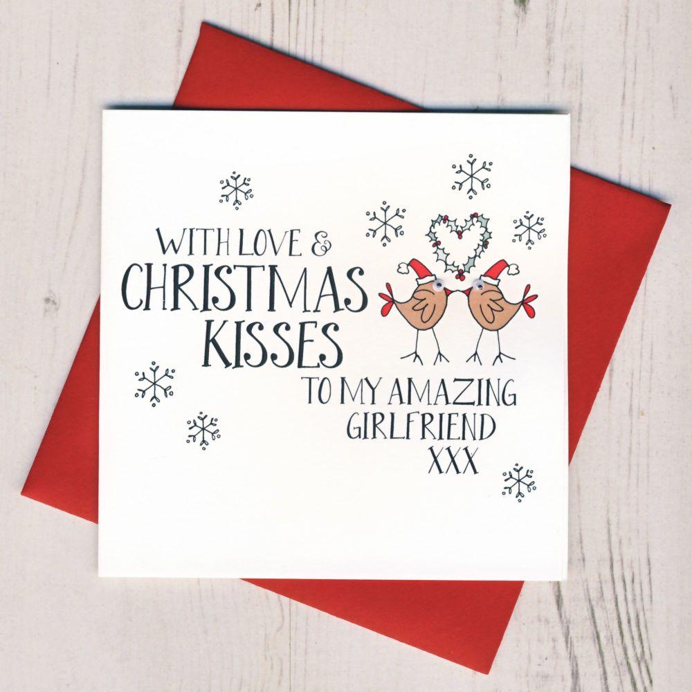 Wobbly Eyes Girlfriend Christmas Card