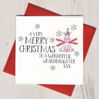 Wobbly Eyes Granddaughter Christmas Card