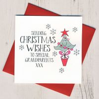 Wobbly Eyes Grandparents Christmas Card