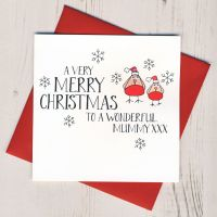 Wobbly Eyes Mummy Christmas Card