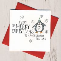 <!-- 005 -->Wobbly Eyes Son Christmas Card
