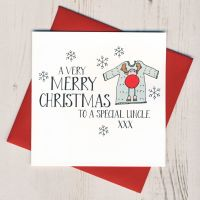 <!-- 002-->Wobbly Eyes Uncle Christmas Card