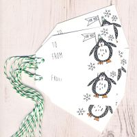 Pack of 5 Penquin Gift Tags