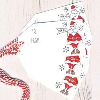 Pack of 5 Santa Gift Tags