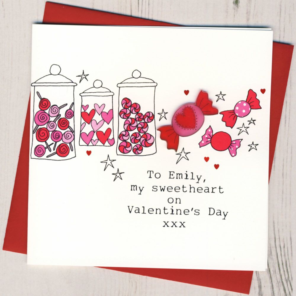 Personalised Sweetheart Valentines Card