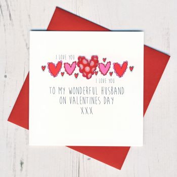 Husband Valentines Card