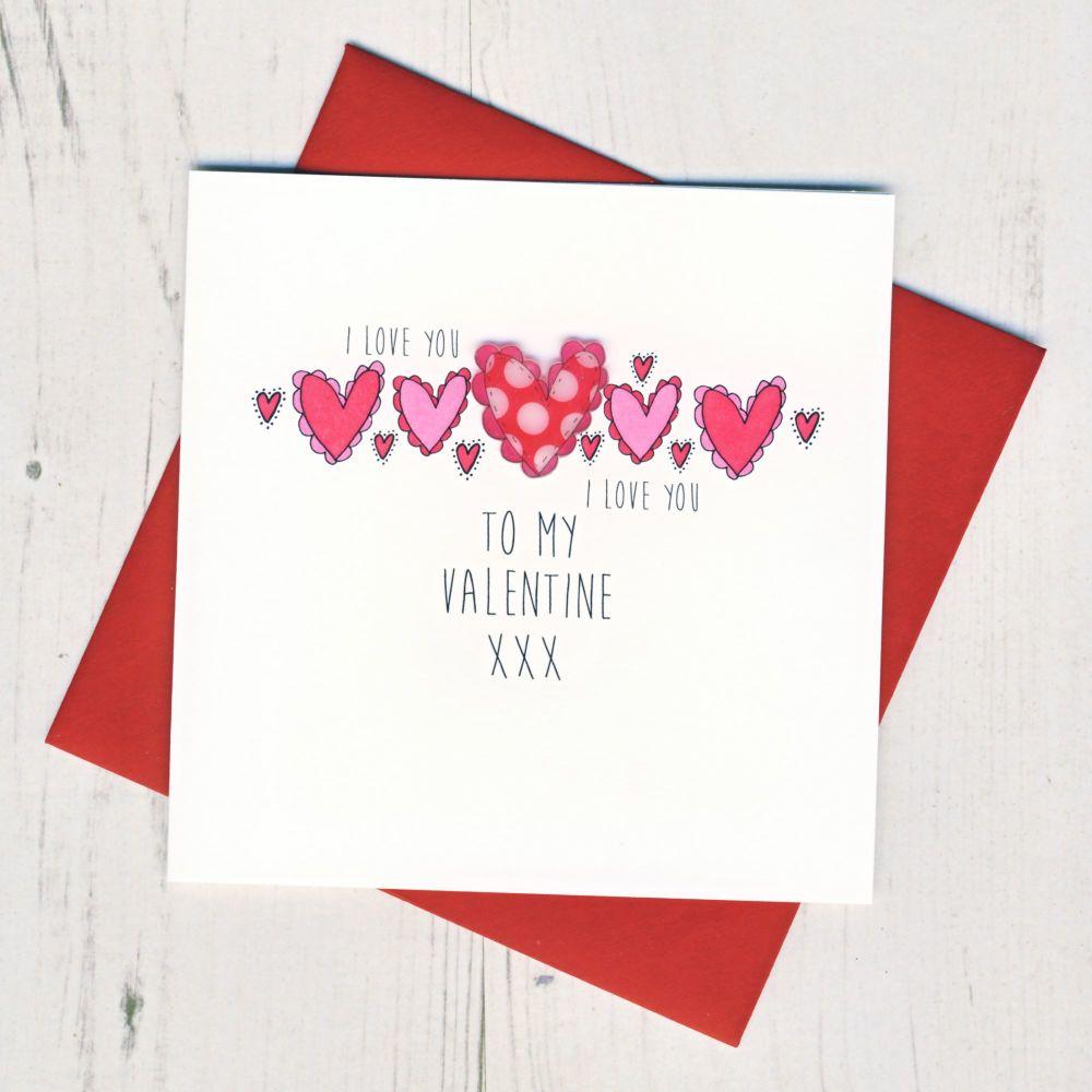 To My Valentine Card