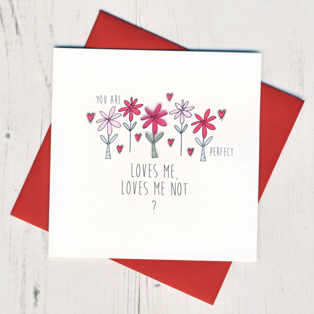 Loves Me Loves Me Not Valentine Card