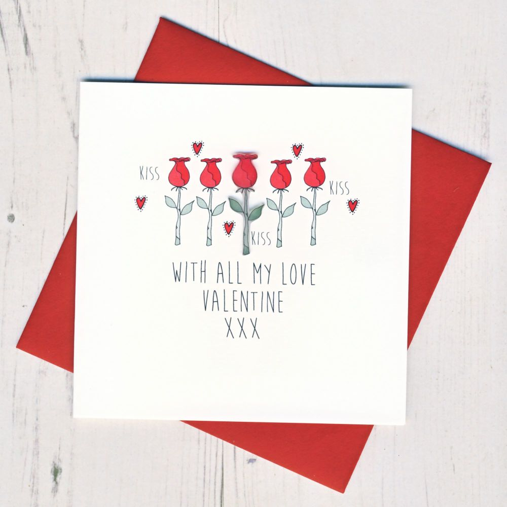 With All My Love Valentines Card
