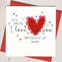 <!-- 017 -->I Love You Valentine Card