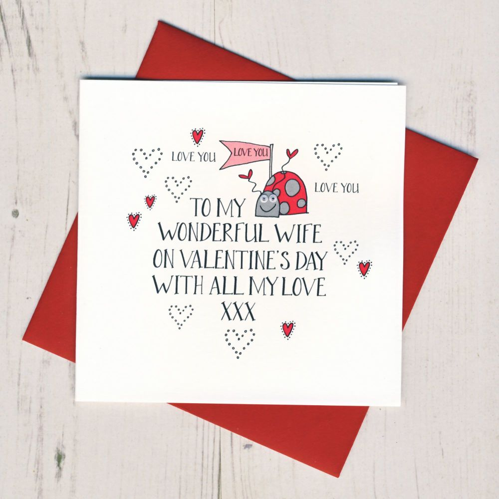 Wobbly Eyes Wife Valentines Card