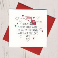 <!-- 008 -->Wobbly Eyes Wife Valentines Card