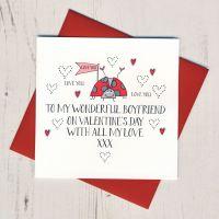 <!-- 010 -->Wobbly Eyes Boyfriend Valentines Card
