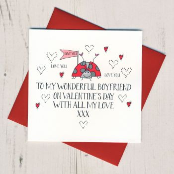 Wobbly Eyes Boyfriend Valentines Card