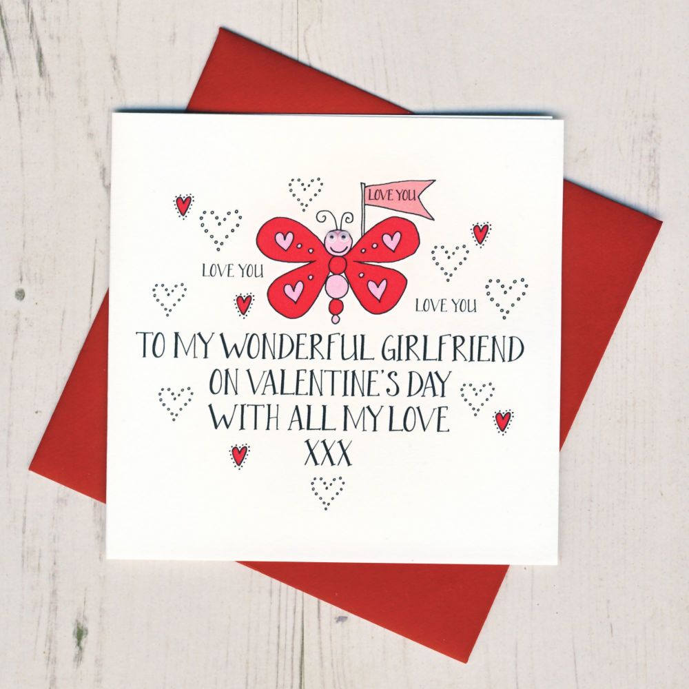 Wobbly Eyes Girlfriend Valentines Card