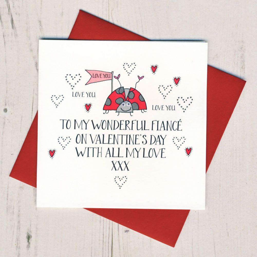 Wobbly Eyes Fiance Valentines Card