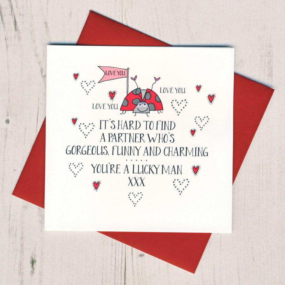 Wobbly Eyes Fiancee Valentines Card