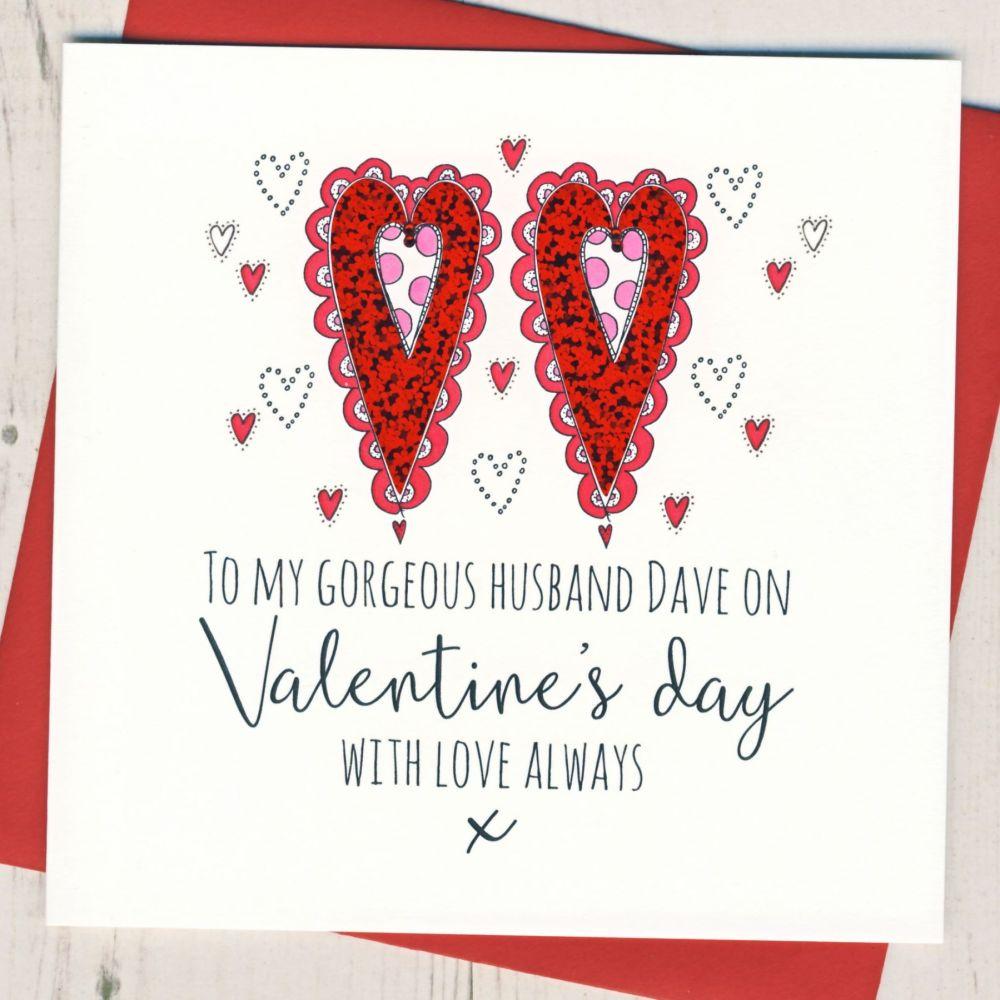 Personalised Husband Valentines Card