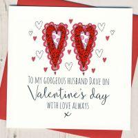 <!-- 002 -->Personalised Husband Valentines Card