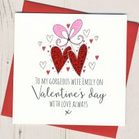 <!-- 004 -->Personalised Wife Valentines Card