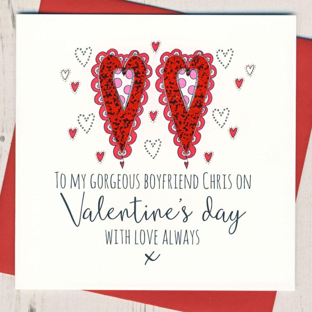Personalised Boyfriend or Fiance Valentines Card