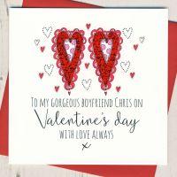 <!-- 009 -->Personalised Boyfriend Valentines Card