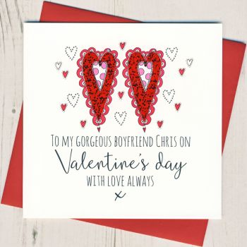 Personalised Boyfriend Valentines Card