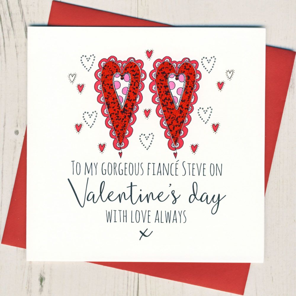 Personalised Fiance Valentines Card