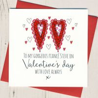 <!-- 013 -->Personalised Fiance Valentines Card
