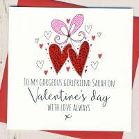 <!-- 011 -->Personalised Girlfriend Valentines Card