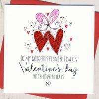 <!-- 016 -->Personalised Fiancee Valentines Card