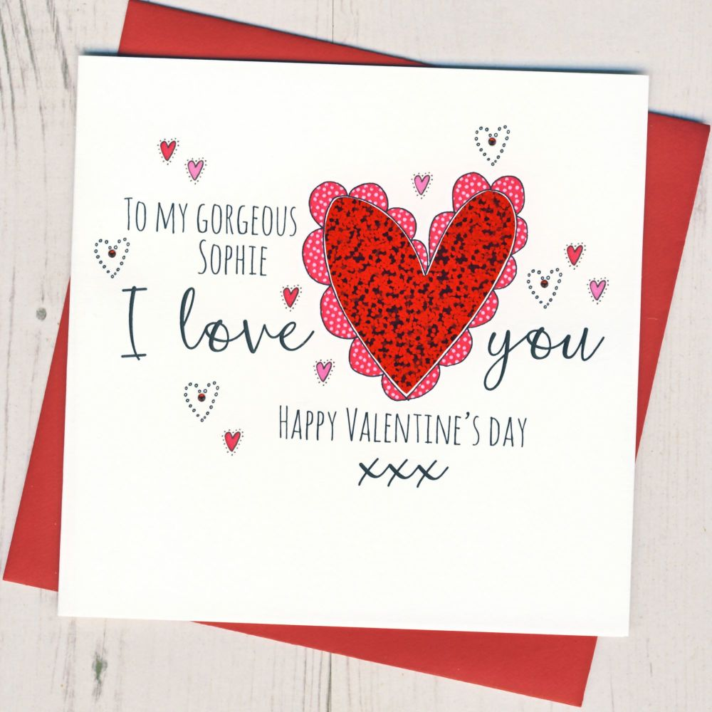 Personalised I Love You Valentine Card